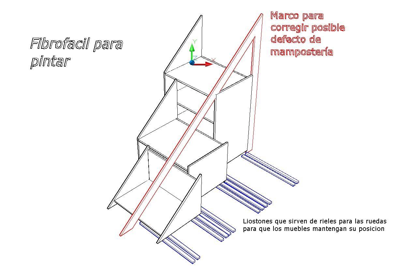 Mueble soluci n para bajo escalera la carpinteria de daniel for Muebles bajo escalera ikea
