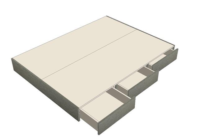 Cama de 2 plazas con cajones la carpinteria de daniel for Como hacer una cama de una plaza