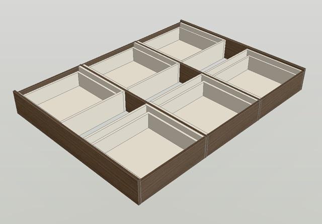 Cama de 2 plazas con cajones la carpinteria de daniel for Camas dos en una
