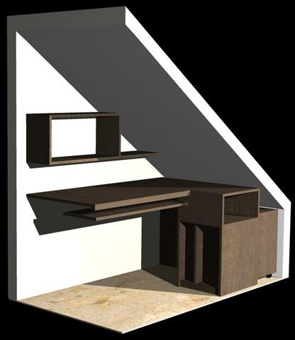 Muebles bajo escalera la carpinteria de daniel for Muebles de madera para debajo de la escalera