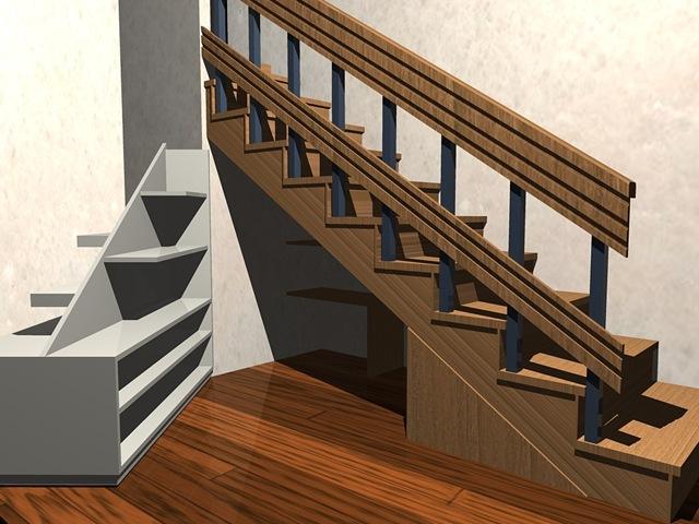 Muebles bajo escalera la carpinteria de daniel for Mueble bajo escalera