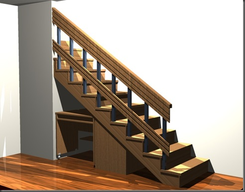 Escritorio bajo escalera la carpinteria de daniel for Mueble bajo escritorio