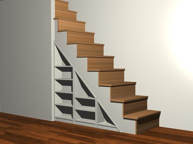 Mueble bajo escalera la carpinteria de daniel for Mueble bajo escalera