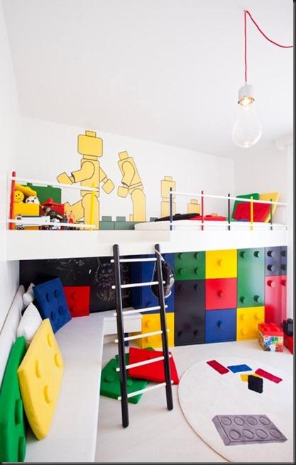 Dormitorio para chicos muy colorido