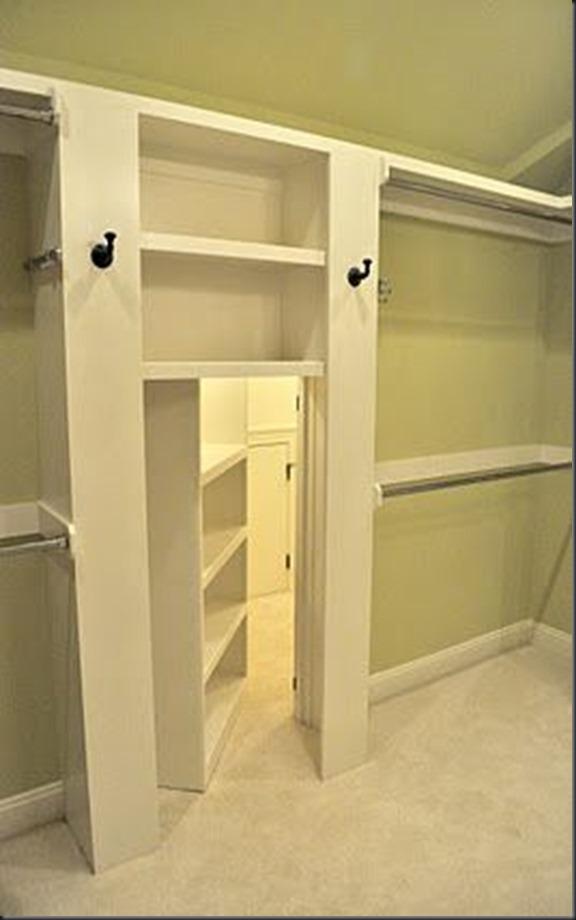 Lugar secreto en el vestidor